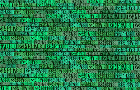 Background green numbers abstraction on the topic of the Internet and the matrix. Иллюстрация