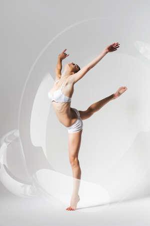 woman dancing: woman dancing in bubble