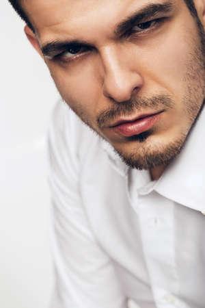 brown  eyed: portrait of brown eyed man