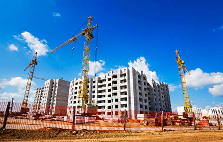 high rise buildings: construction of the new building for use as housing