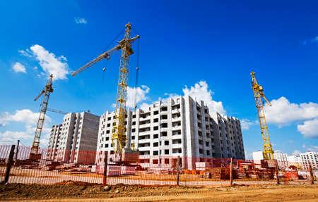 cantieri edili: la costruzione del nuovo edificio per l'utilizzo come alloggi Archivio Fotografico