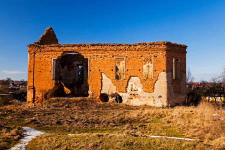 sainthood: ruins of an ancient church of Franciscans. ruins are in the city of Oshmyany, Belarus