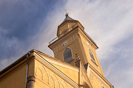 located: the Catholic church located in the territory of Belarus Stock Photo