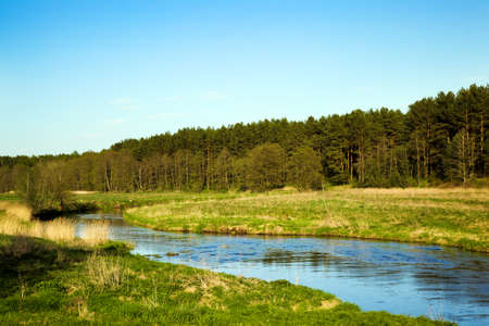 inland waterways: the small river in summertime of year. Belarus