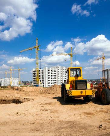 construction of buildings - buildings under construction. Belarus 스톡 콘텐츠