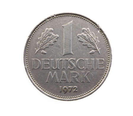bundes: old German coin-mark. isolated on white