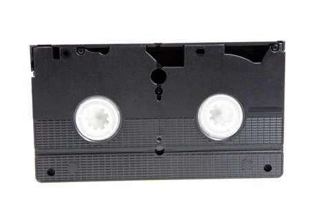 videocassette: vieja cinta de vídeo negro para la visualización de vídeo. aislado