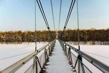 foot bridge: the foot bridge, located in the city of Mosty, Belarus