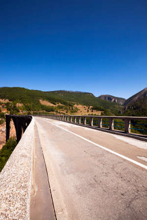 tara: the bridge passing through the river Tara Stock Photo