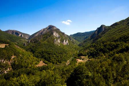 hill of tara: mountains, around a river canyon Tara, Montenegro