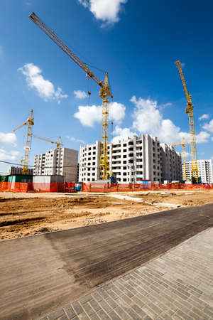 residential construction: construction of a new multi storey residential house