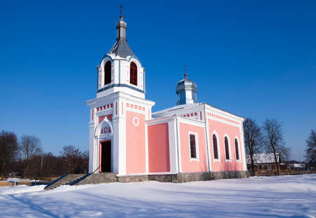 devout: a small Orthodox church located on the territory of the Republic of Belarus