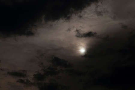 the sky photographed in the evening hours with clouds Stock Photo