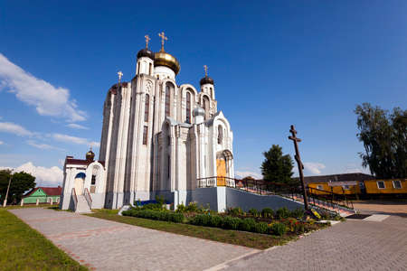 reverent: a small Orthodox church located on the territory of the Republic of Belarus
