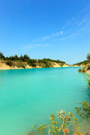 formed: artificial lake formed on the site of the chalk quarries.  Belarus