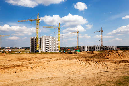 multi storey: construction of a new multi storey residential house