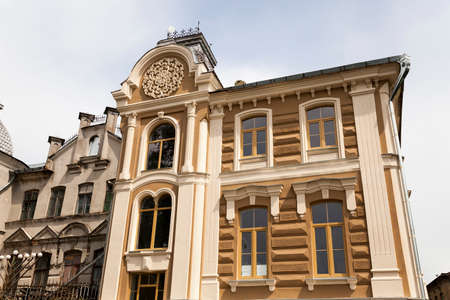 reconsider: synagogue  which began to repair  . Grodno, Belarus Stock Photo