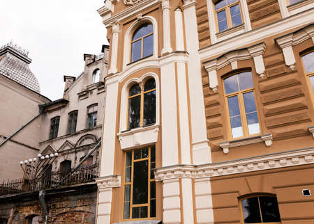 hasidism: synagogue  located in Grodno  Belarus. Building during renovation
