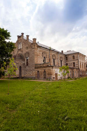 hasidism: synagogue  located in Grodno , Belarus. Building during renovation Stock Photo