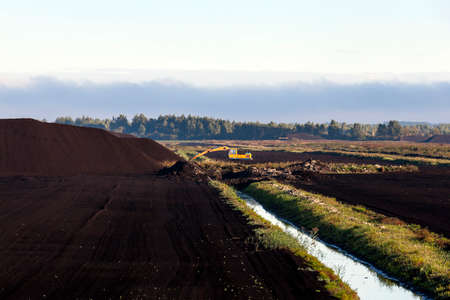dragline: Tofa heaps on the territory of which is produced peat