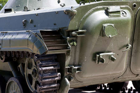 disused: photographed close-up chat old, disused military equipment USSR Stock Photo