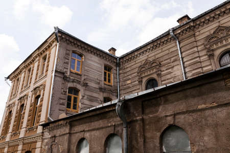 synagogue, which began to repair  restore Grodno, Belarus Stock Photo