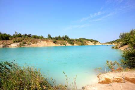 formed: artificial lake formed on the site of chalk quarries. Belarus