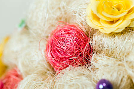 sisal: photographed close-up of the artificial tree made of sisal fiber Stock Photo
