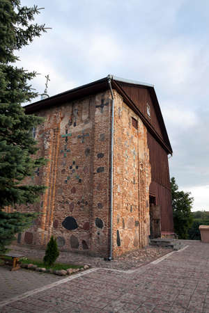 located: photographed close-up of the Orthodox Church, located in Grodno, Belarus, the church of the 12th century