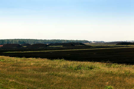 peat: a field in which is carried out peat extraction,