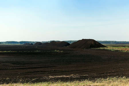 turf bog: a field in which is carried out peat extraction,