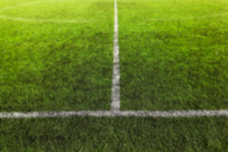 level playing field: photographed close up with artificial coated markings on the stadium, Defocus