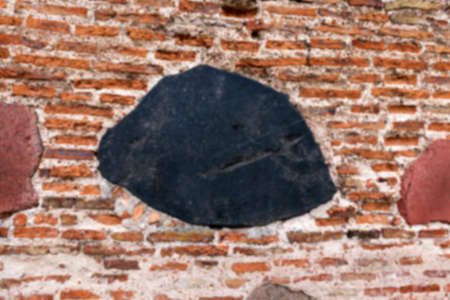 crumbling: photographed close-up of the old church, crumbling wall, Stock Photo