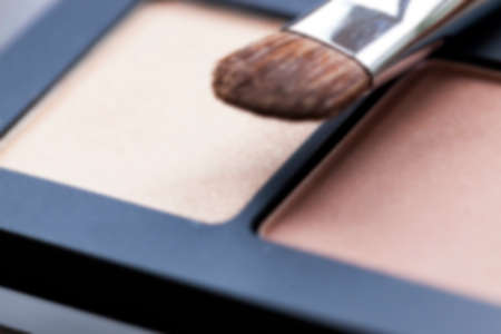 eye for an eye: cosmetics for makeup on eyes, eye shadow close-up, Defocus