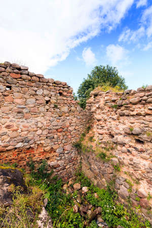 the ruins of an ancient fortress, located in the village of Krevo, Belarus.