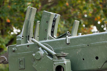 photographed close-up of the old Soviet military hardware outdoors Stock Photo