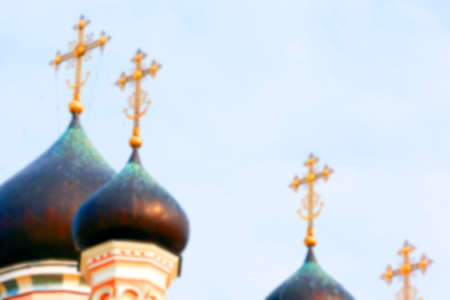 republika: photographed close-up of the Orthodox Church, located in Grodno, Belarus, Defocus