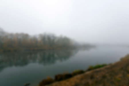 dismal: a park in the autumn, during cloudy weather, late autumn, defocused