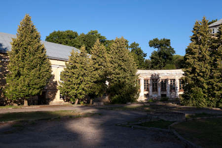 located: photographed an ancient palace, located in the village Svyatsk Belarus Stock Photo