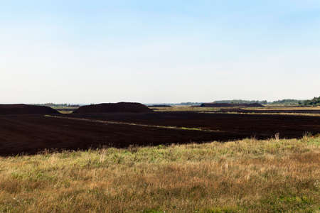 a field in which is carried out peat extraction,