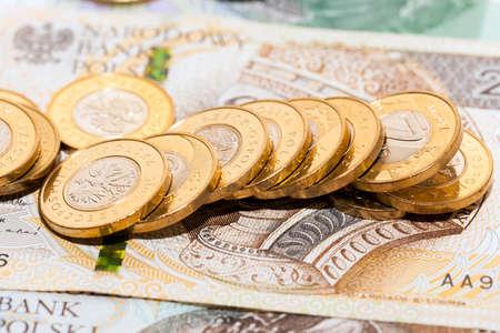 reversing: Polish money, close-up