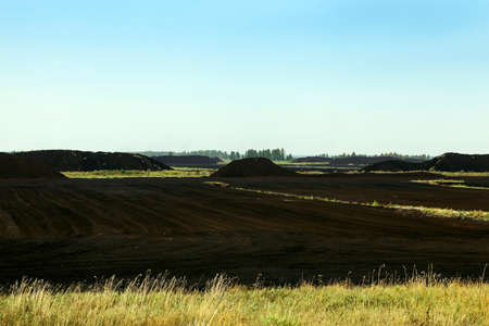 peaty: extraction of peat Stock Photo