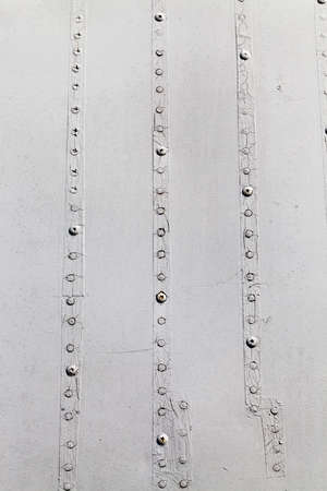 rivets: metal surface with rivets Stock Photo