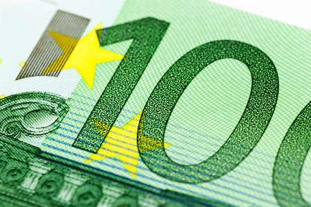 one hundred euro close-up