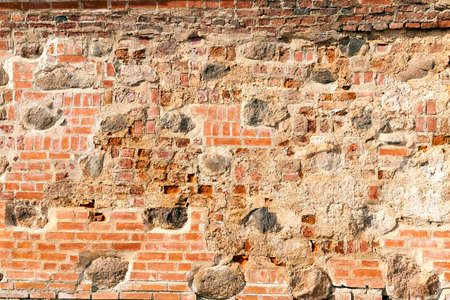 backstop: wall of an old building Stock Photo