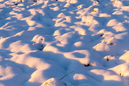 snow drifts, close-up