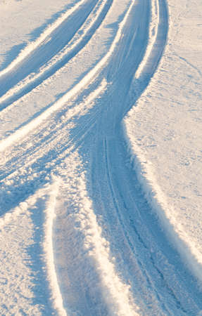 sheeted: Road in the snow