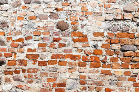 eradication: wall of an old building Stock Photo