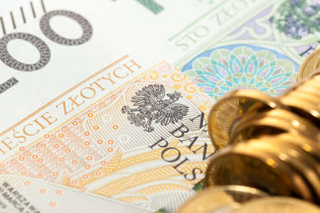 Polish Zloty, close-up
