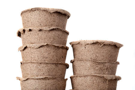 Paper small pots designed for growing seedlings in agricultural activities